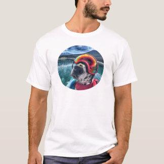 T-shirt Voyageur le chien de barbotage