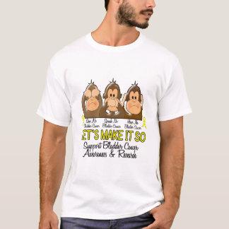 T-shirt Voyez que parler n'entendez aucun cancer de la