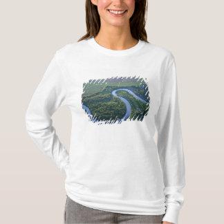 T-shirt Vue aérienne de la rivière rouge du nord