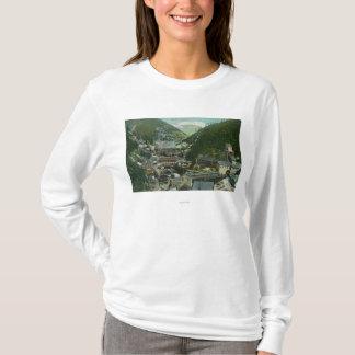 T-shirt Vue aérienne de la ville et du MountainsBurke,