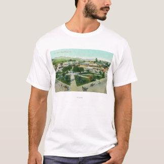 T-shirt Vue aérienne de la ville PlazaHealdsburg, CA