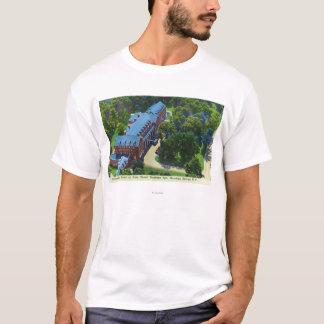 T-shirt Vue aérienne de l'hôtel de Gideon Putnam, spa