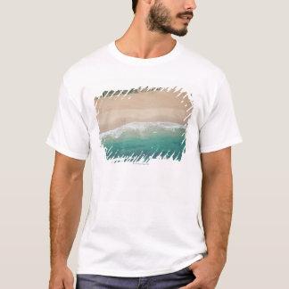 T-shirt Vue aérienne de plage de vue de mer, Port
