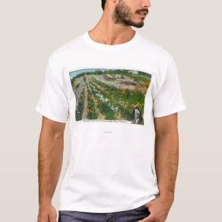 T-shirt Vue aérienne de station expérimentale de Burbanks