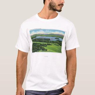 T-shirt Vue aérienne de terrain de golf d'auberge de