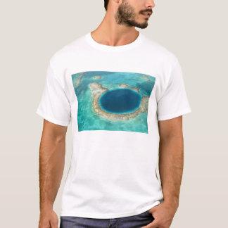 T-shirt Vue aérienne de trou bleu, voilier ancré