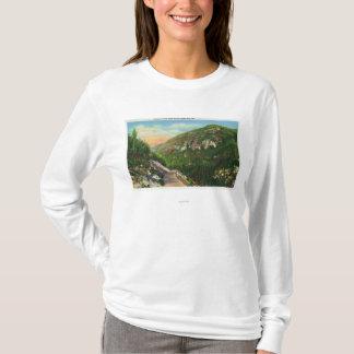 T-shirt Vue aérienne des au sol de crique de poissons,