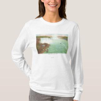 T-shirt Vue aérienne des chutes du Niagara entières
