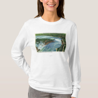 T-shirt Vue aérienne des chutes du Niagara entières 2