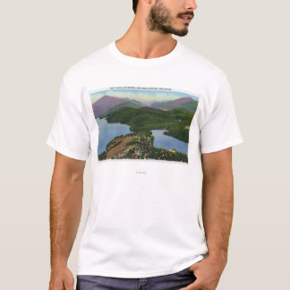 T-shirt Vue aérienne des lacs placides et du miroir