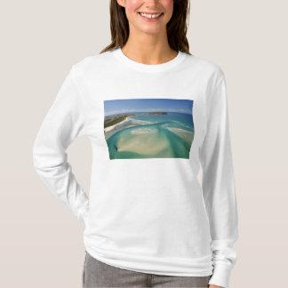 T-shirt Vue aérienne d'estuaire, de baie de Sawyer,