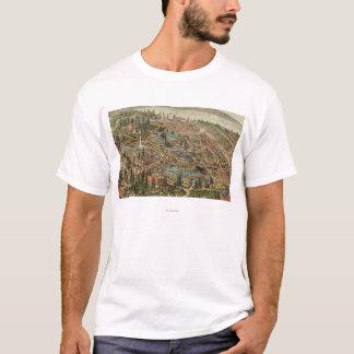 T-shirt Vue aérienne d'expo de l'Alaska le Yukon Pacifique