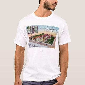 T-shirt Vue aérienne du bâtiment de l'incubateur Co de