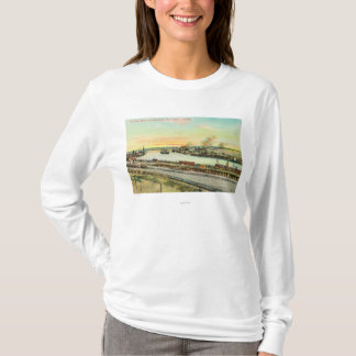 T-shirt Vue aérienne du port de San Pedro