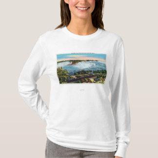 T-shirt Vue centrale de train du Michigan des chutes du