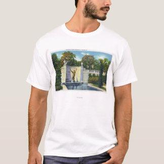T-shirt Vue commémorative de fontaine de Spencer Trask