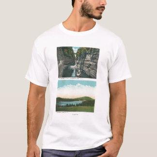 T-shirt Vue d'abîme d'Ausable et de lac Saranac