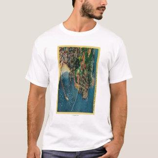 T-shirt Vue d'air de Monterey et de Presido