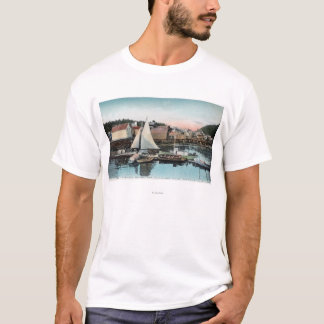 T-shirt Vue de bord de mer du dock flottant