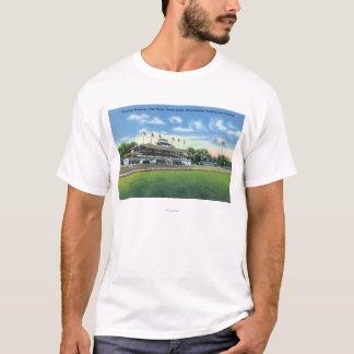 T-shirt Vue de caniveau de support grand, Chambre de club,