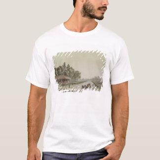 T-shirt Vue de Capitol Hill, Washington (gravure de