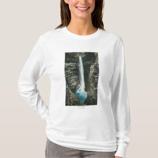 T-shirt Vue de cascade de caverne