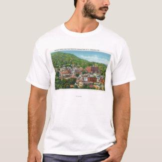 T-shirt Vue de colline de rue de lac de section d'affaires