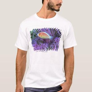 T-shirt Vue de côté d'un poisson d'anémone rose,