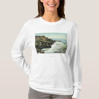 T-shirt Vue de falaise de tête chauve