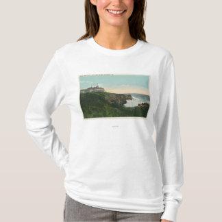 T-shirt Vue de falaise de tête chauve et extérieur de
