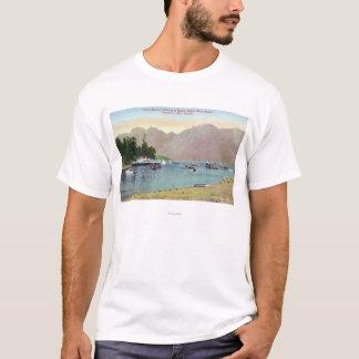 T-shirt Vue de Howe Sound de vapeur des syndicats à l'île