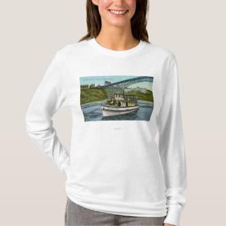 T-shirt Vue de la domestique du bateau 2 de brume