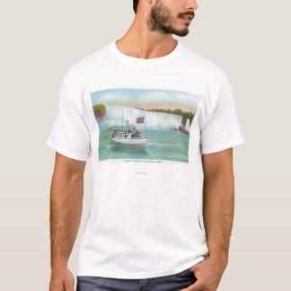 T-shirt Vue de la domestique du bateau de brume