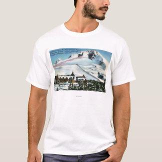 T-shirt Vue de la loge de Timberline, capot de Mt en hiver