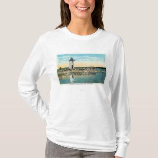 T-shirt Vue de lac Cobbosseecontee et du phare