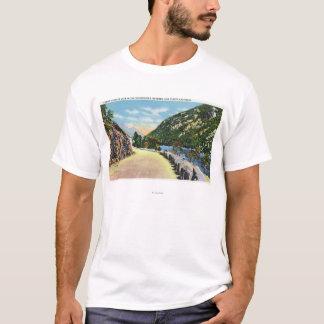 T-shirt Vue de lac inférieur cascade