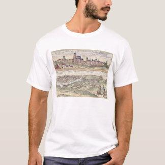 T-shirt Vue de l'apparence de Prague (ci-dessus) le palais