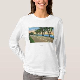 T-shirt Vue de l'itinéraire 5 de Hwy de lac seneca
