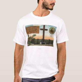 T-shirt Vue de monument de Serra, vieille ville San Diego