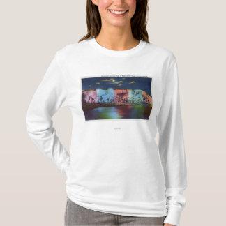 T-shirt Vue de nuit d'île de Luna de nouveau pont en