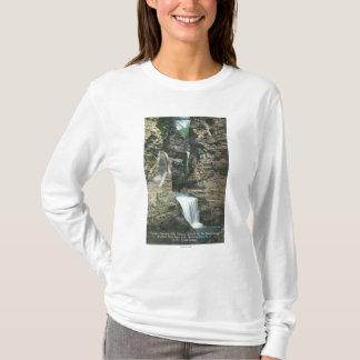T-shirt Vue de parc d'état des cascades de rideau et de