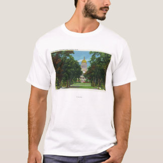 T-shirt Vue de parc d'état du bâtiment de capitol d'état