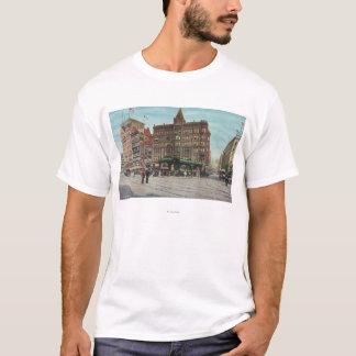 T-shirt Vue de pergola dans le carré de pionnier