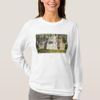 T-shirt Vue de pierre tombale de Ralph Waldo Emerson