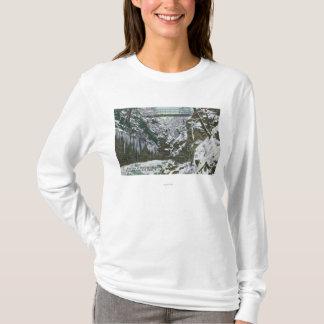 T-shirt Vue de pont suspendu de gorge de parc d'état