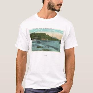 T-shirt Vue de rivière et de barrage de Chenango