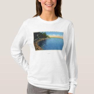 T-shirt Vue de Shoreline de pavillon de parc de lac seneca