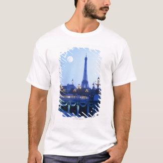 T-shirt Vue de soirée de Tour Eiffel