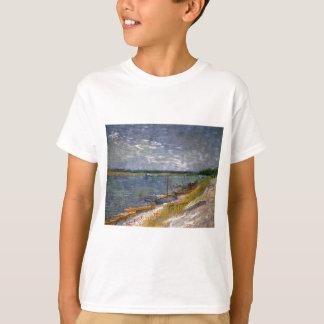 T-shirt Vue de Van Gogh de rivière avec des bateaux