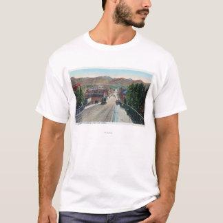 T-shirt Vue de viaduc de StreetPocatello central,
